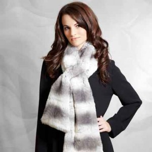 Medium Scarf Chinchilla